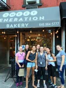 On the Cupcake Tour at our awesome summer cooking camp!