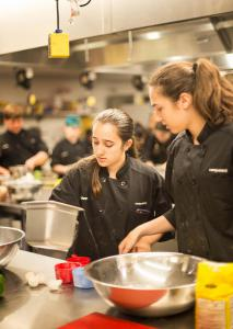 Ariana showing the way  -  Summer Culinary Camp