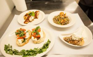 Plated food for Chopped - Summer Culinary Camp