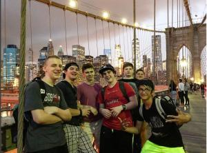 Brooklyn Bridge walk at night!