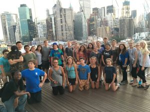 At campusNYC culinary arts summer camp, we also enjoy touring the City! Here are some students on the Brooklyn Bridge.